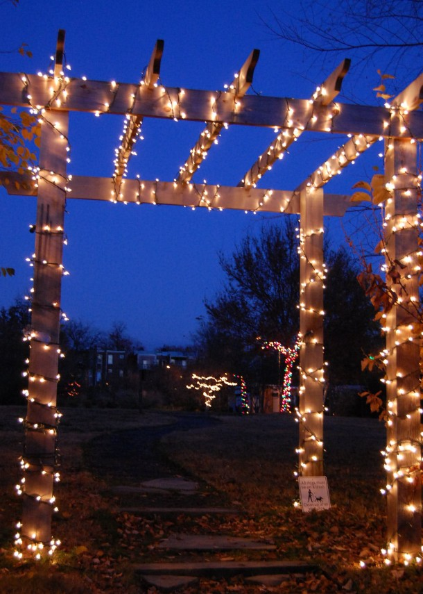 Lights in Crispus Attucks Park in my neighborhood.